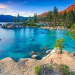 A sunset on Lake Tahoe